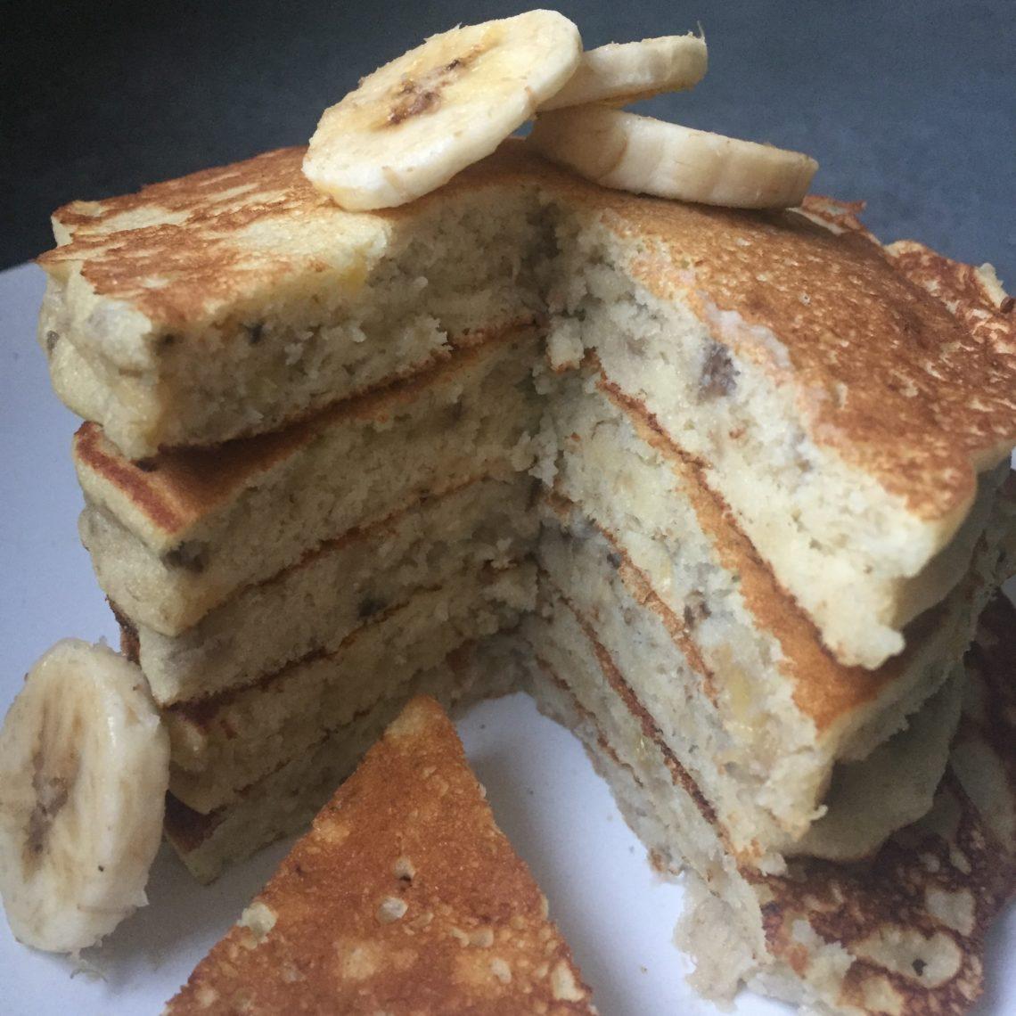 Sans gluten ni lactose : pancake à la banane