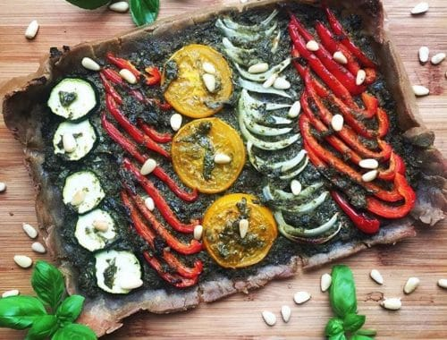 tarte au pesto et légumes d'été
